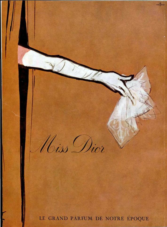 954237185 Vintage Dior ad 1960s
