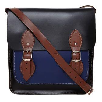 Robert Pietri Leather Shoulder Satchel Bag