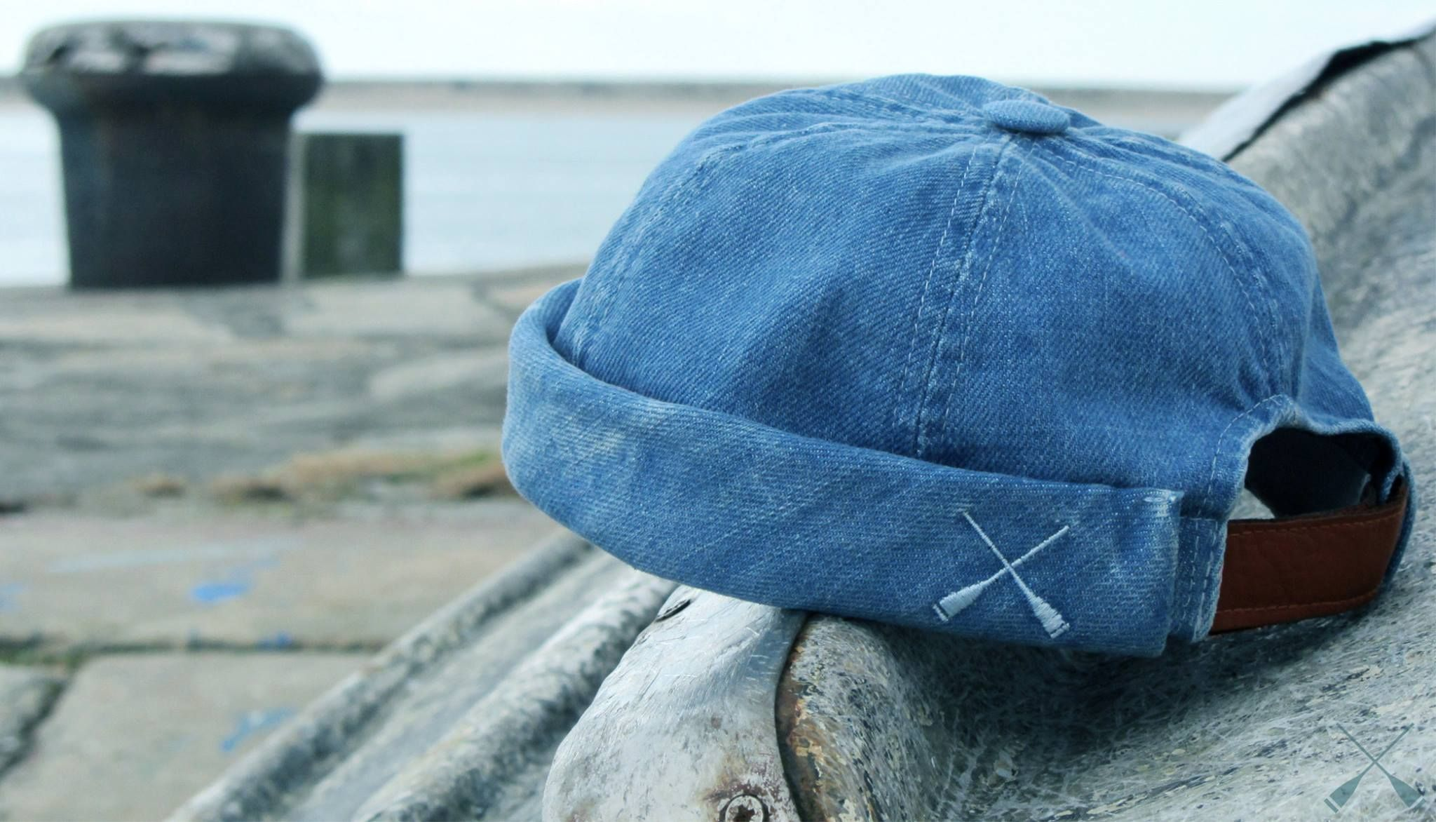 cd743316a45 Beton Cire Washed Denim Miki Cap Menswear Hats