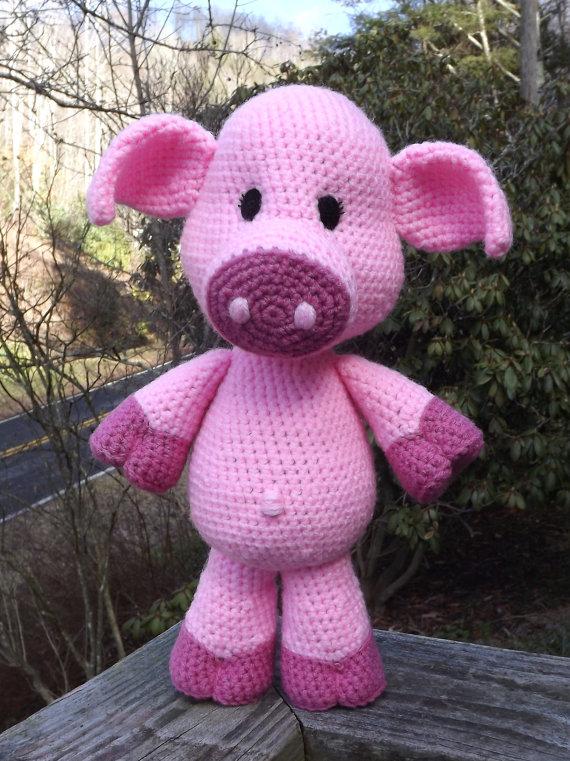 Lil Piggy Baby Pig Amigurumi Crochet Pattern Pdf File Only Medium