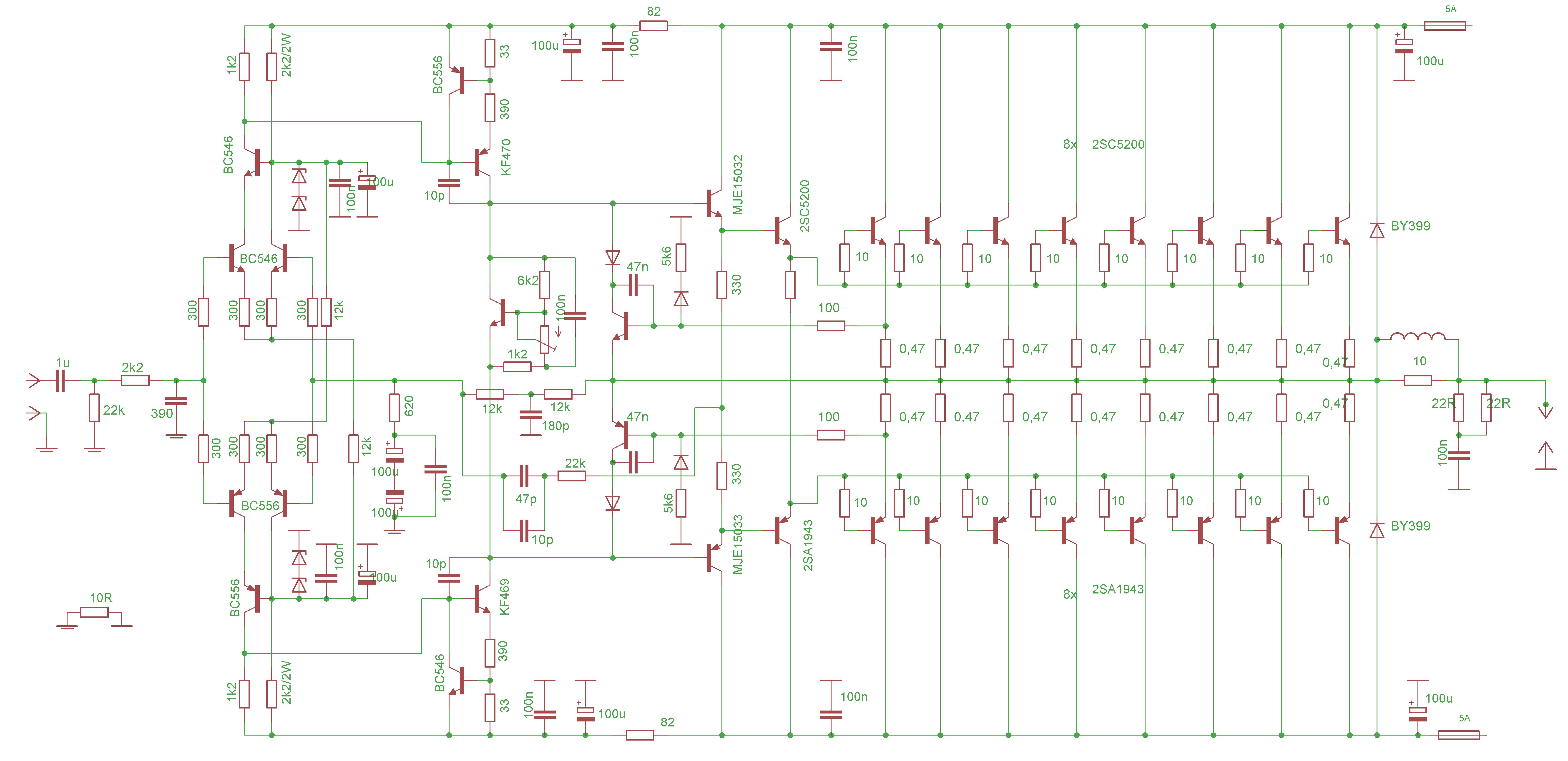 700w Leach Amplifier Electronic Circuits Pinterest Circuit Of Lm380 Amplifiercircuitsaudio