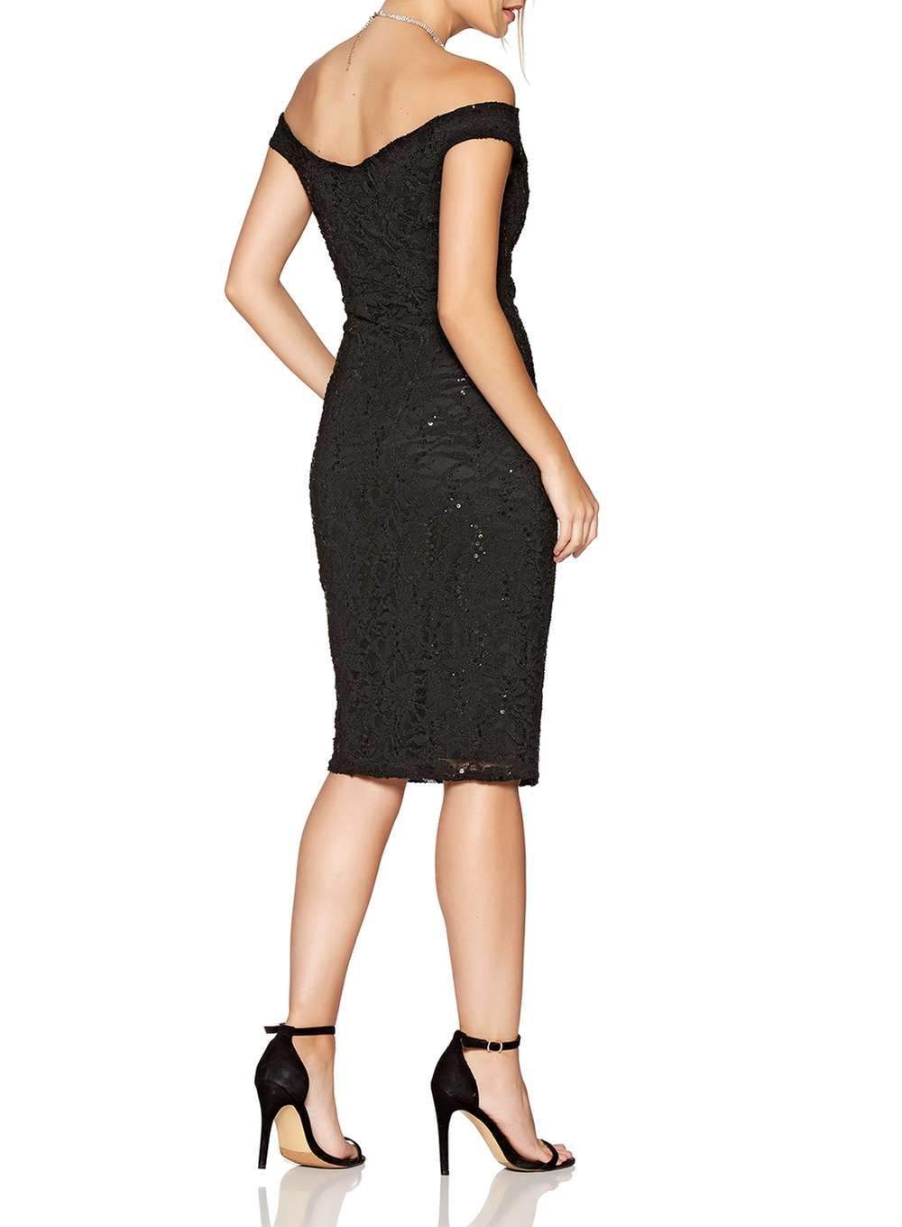 Quiz black sequin midi bodycon dress view all dresses dresses