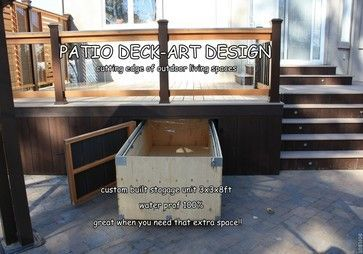 Under Deck Storage Solutions | Efficient Use Of Space Under The Deck Or  House | Design That I Love | Pinterest | Deck Storage, Decking And Storage