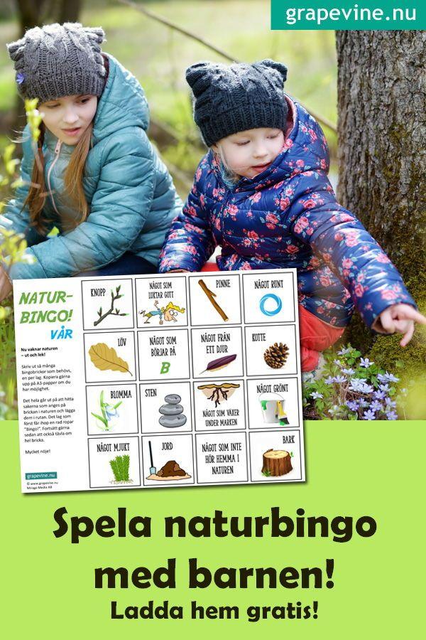 Naturbingo - kul utomhusaktivitet för familjen! Gratis! - Fira fest