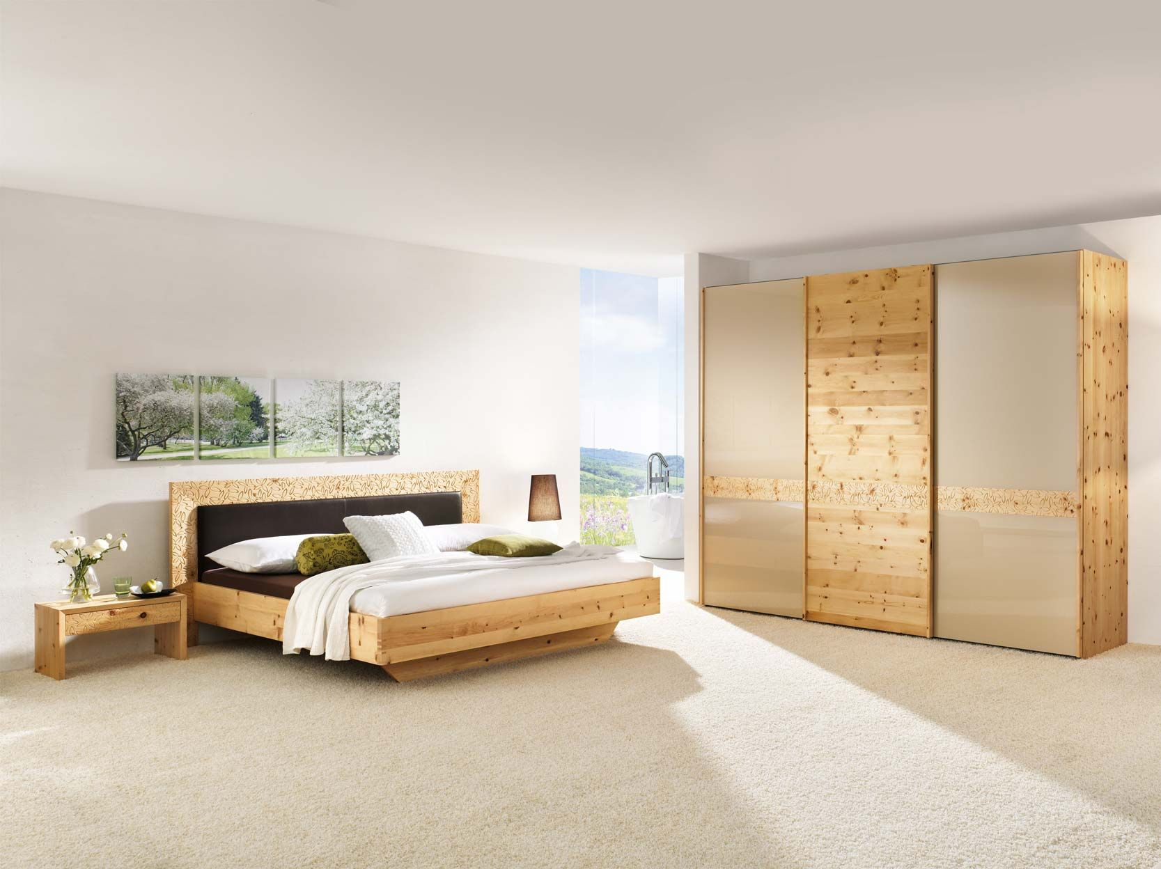 zirbenholz schlafzimmer modern – marikana, Schlafzimmer