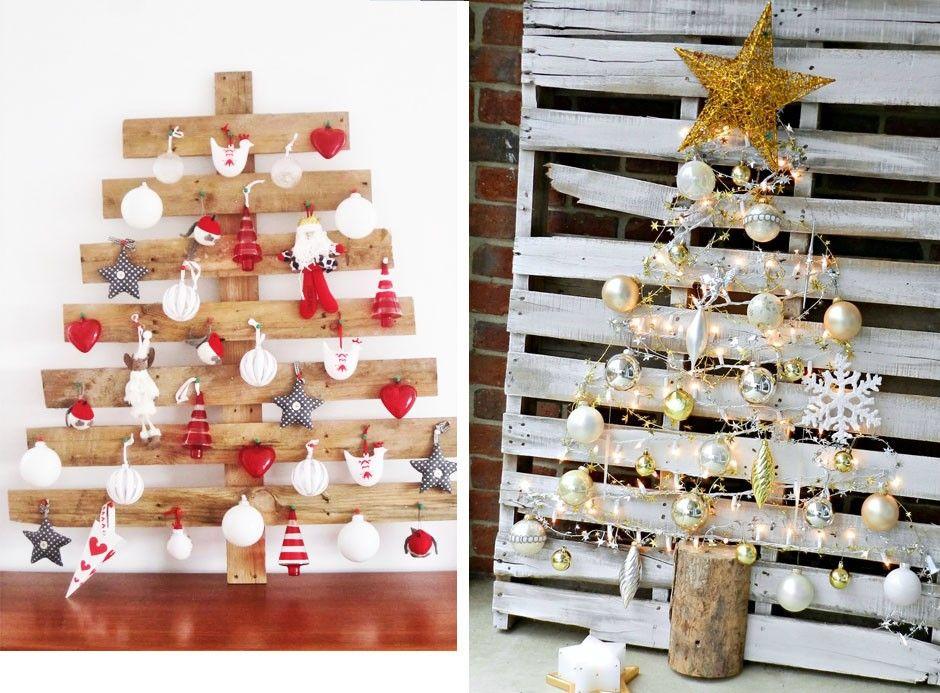 ideen aus paletten weihnachtlich dekorieren weihnachtsdeko ideen - weihnachtsdeko ideen