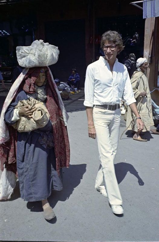 85a1dce2be0 Rare photos of Yves Saint Laurent in Morocco in the 70's | Moroccan Ladies