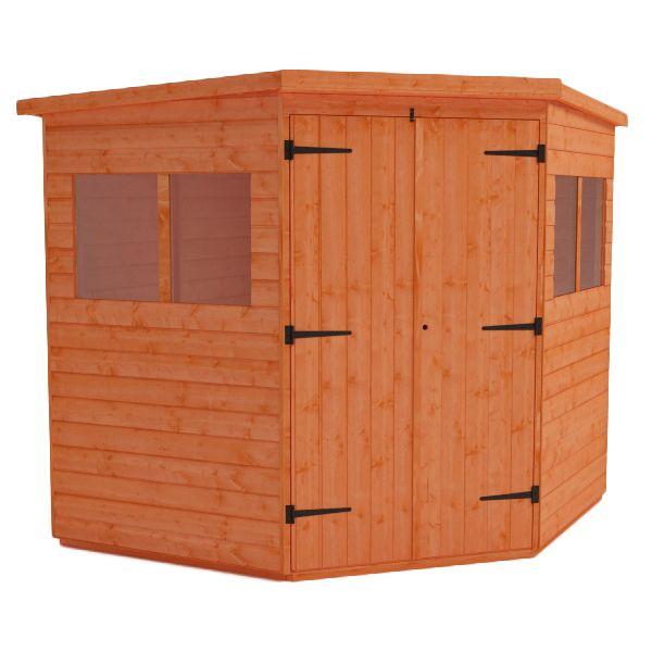 corner shed wooden corner garden sheds - Corner Garden Sheds 7x7