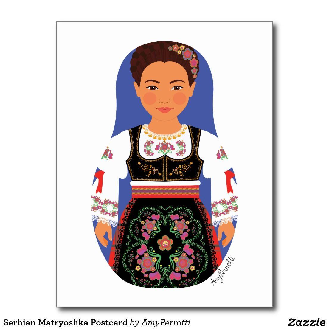 Serbian Matryoshka Postcard