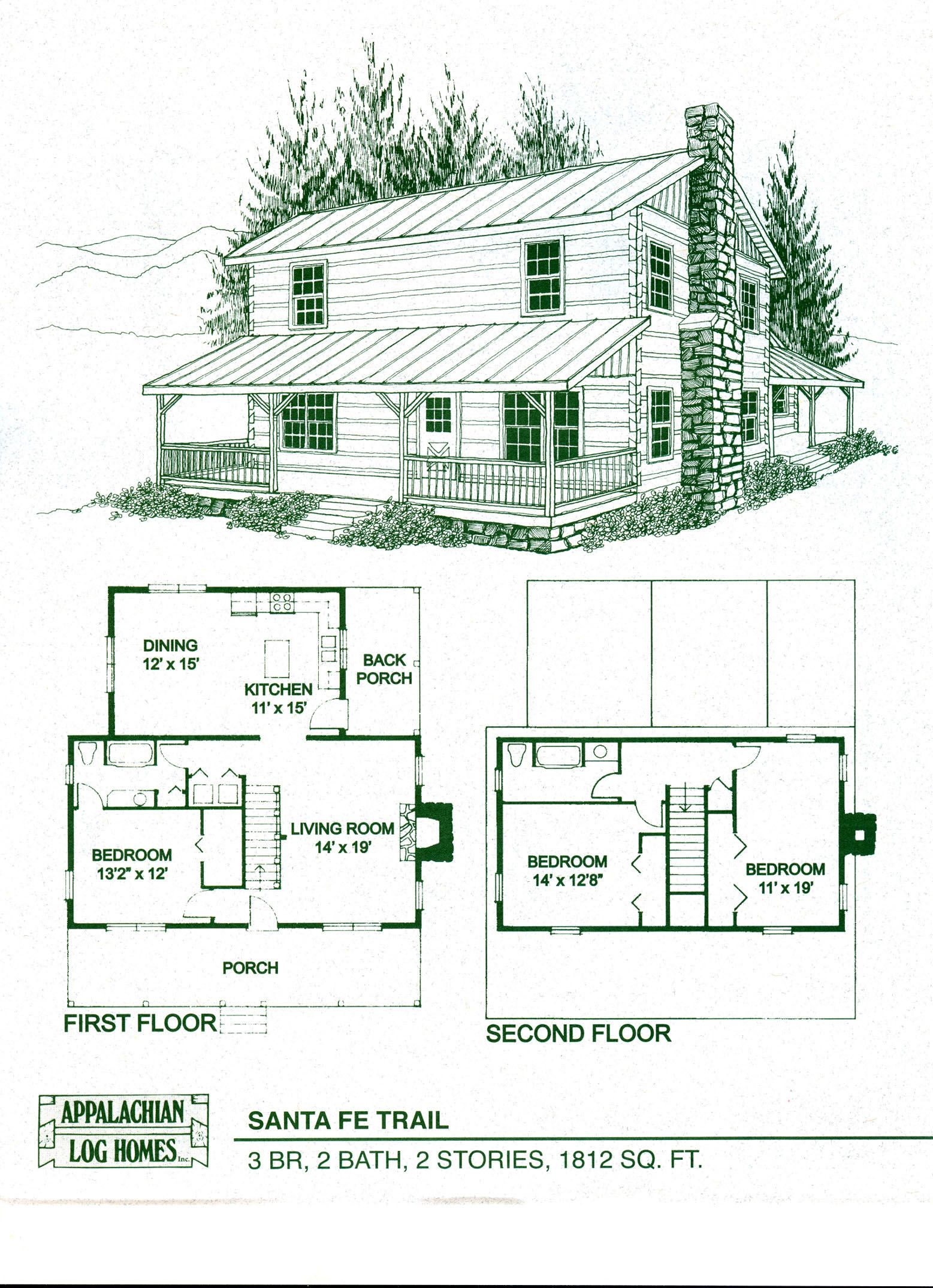 Log Home Package Kits - Log Cabin Kits - Santa Fe Trail Model ...