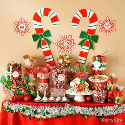 christmas dessert bar party city fun desserts christmas party decorations christmas. Black Bedroom Furniture Sets. Home Design Ideas