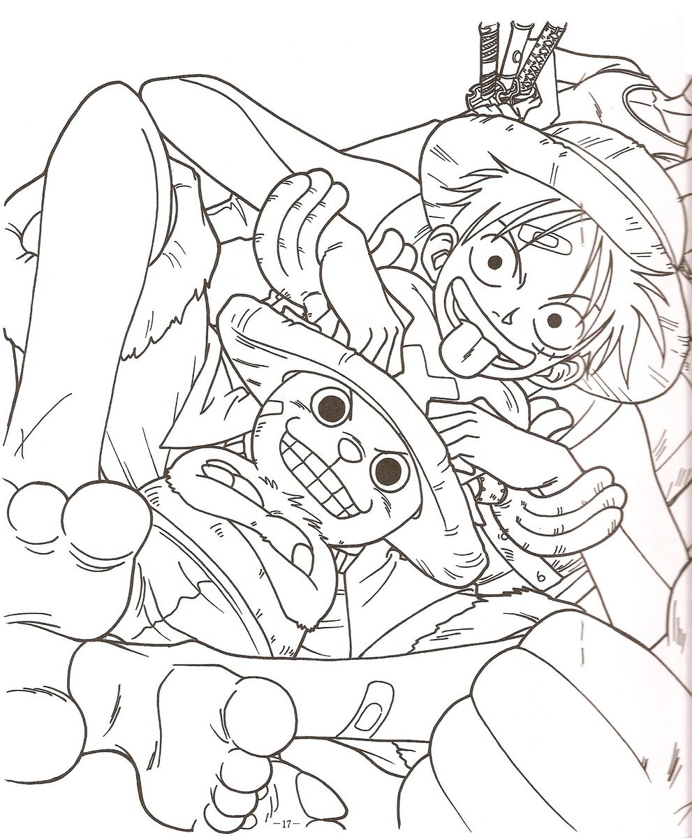Pin by marjolaine grange on coloriage one piece coloriage - Coloriage one piece ...