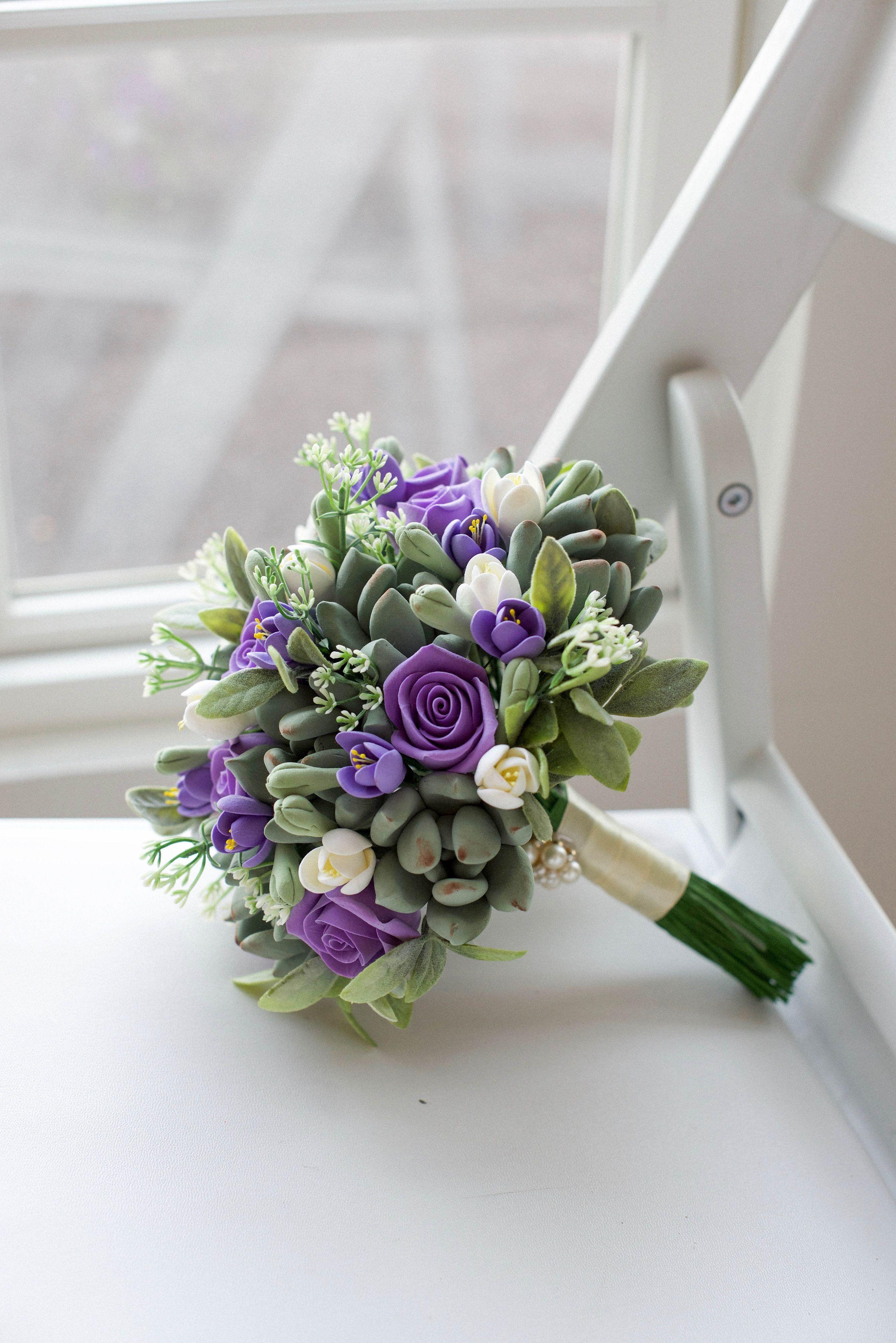Bride Details Clay succulent bouquet. Tip buy a bouquet