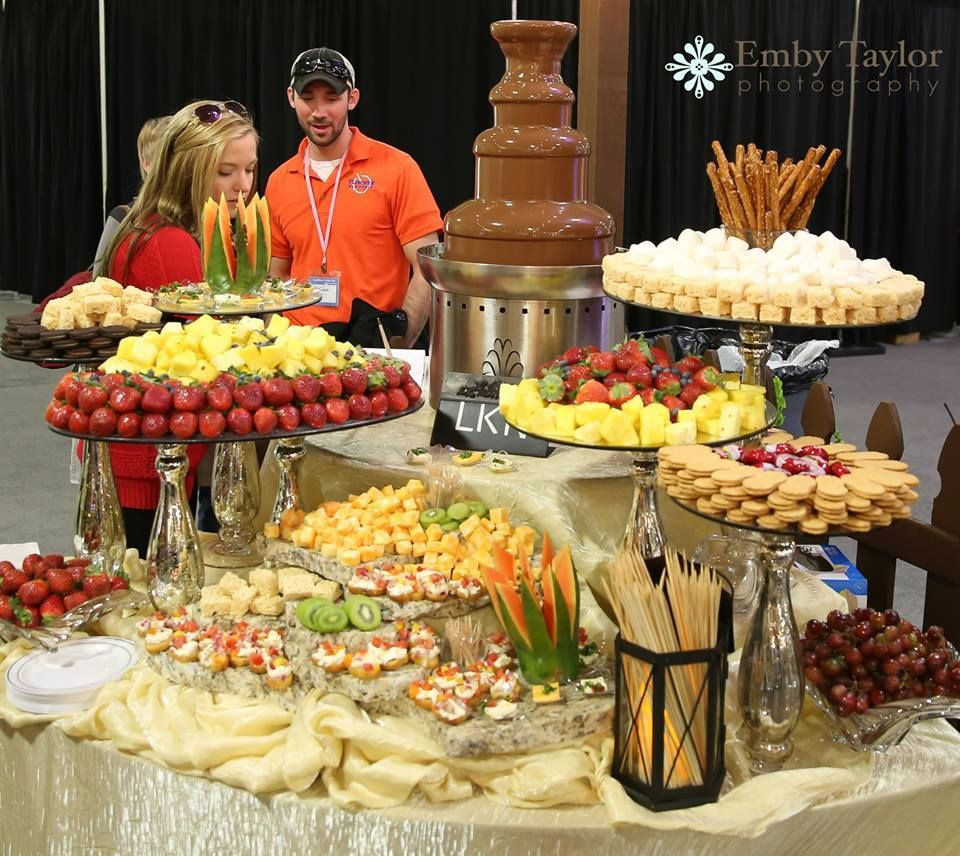 Wedding Food Tables: Chocolate Fountain Options: Strawberries, Pineapple, Rice