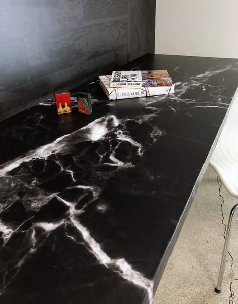 Black Marble Surface Skin In 2020 Black Marble Countertops