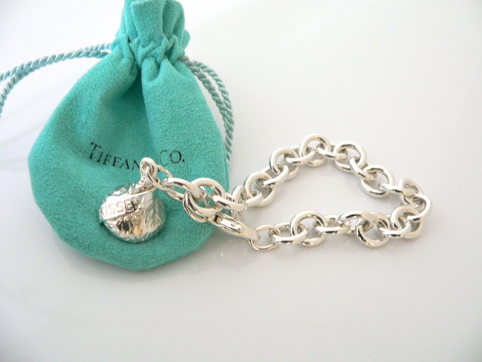 Tiffany Co silver Hershey Kiss Charm on a sterling ...