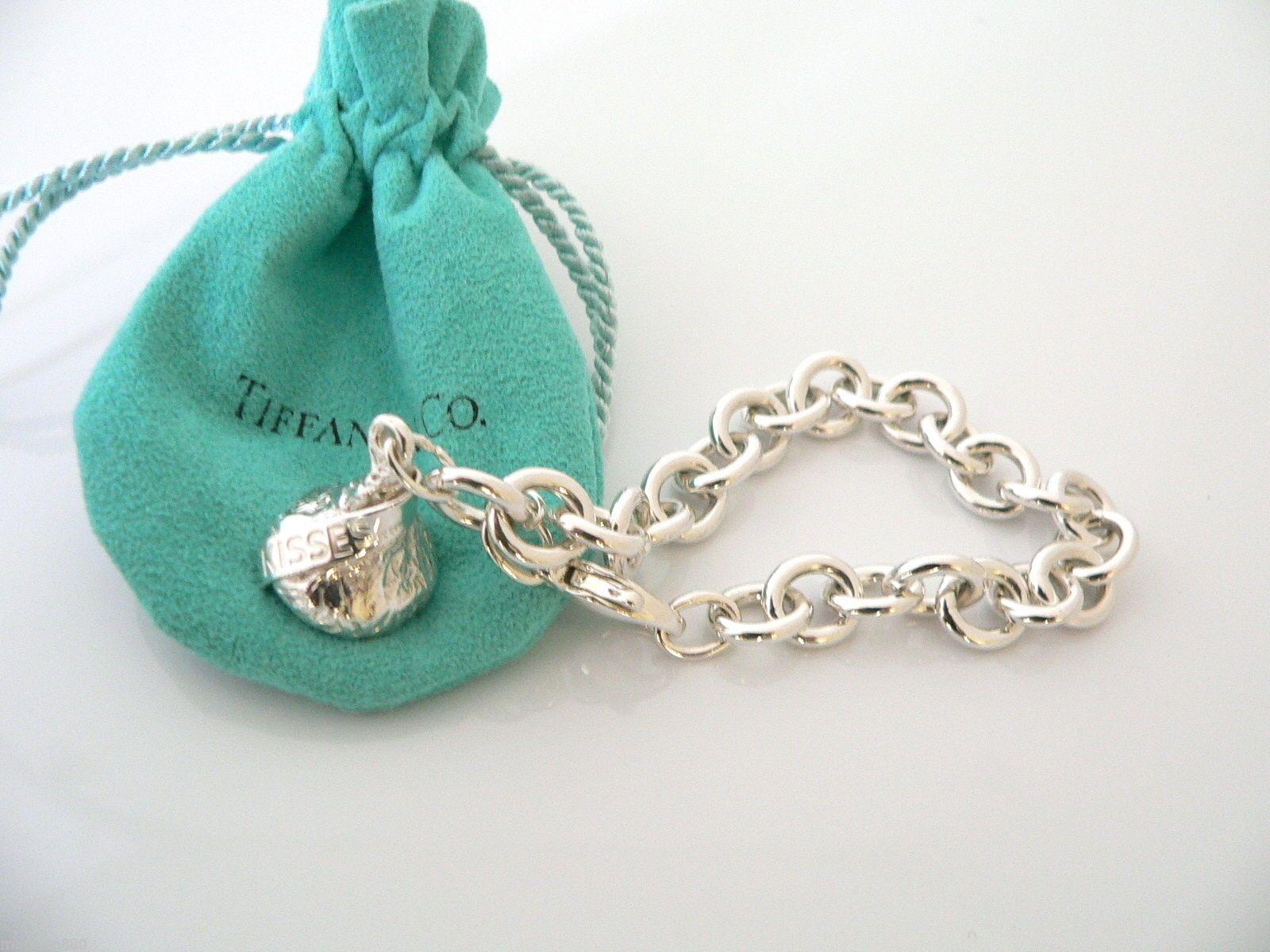 70a0ea037 Tiffany Co silver Hershey Kiss Charm on a sterling bracelet. eBay ...