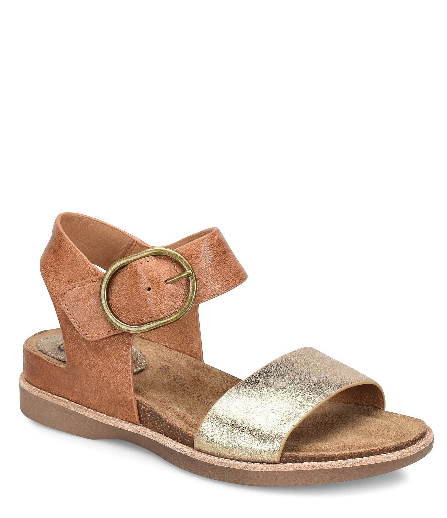 Sofft Bali Metallic Leather Sandals | Dillard's