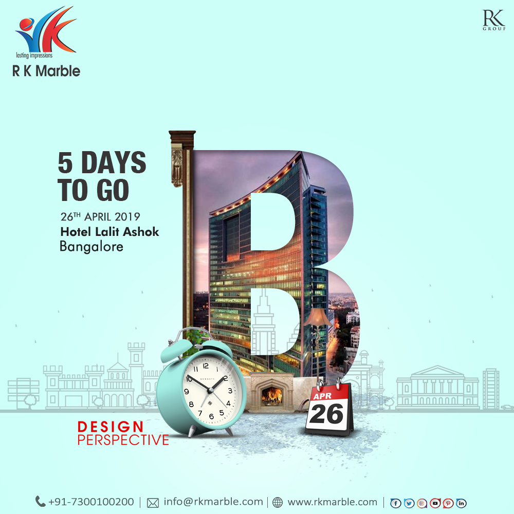 5 Days Left! Design Perspective #Bangalore 26 April 2019