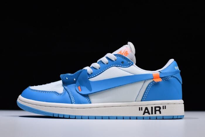"2018 Off-White x Nike Air Jordan 1 Low ""UNC"" AQ0818-14 On Sale ... 0ab686d9e"