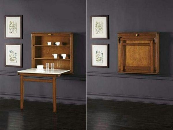 la table murale rabattable est un meuble moderne qui. Black Bedroom Furniture Sets. Home Design Ideas