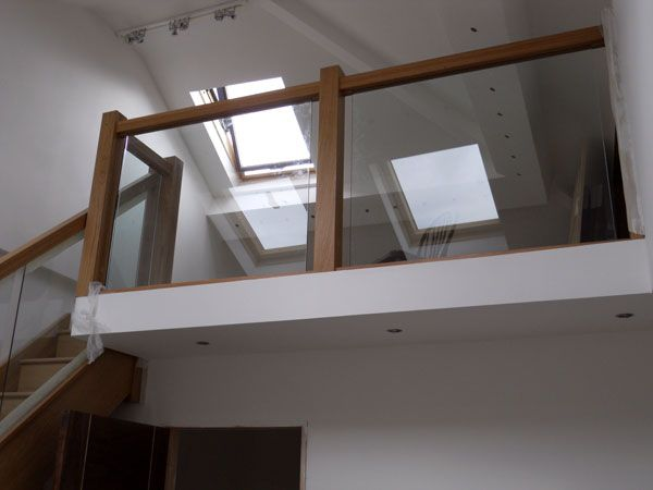 Best Landing Handrail With Oak And Glass Stairs And 400 x 300
