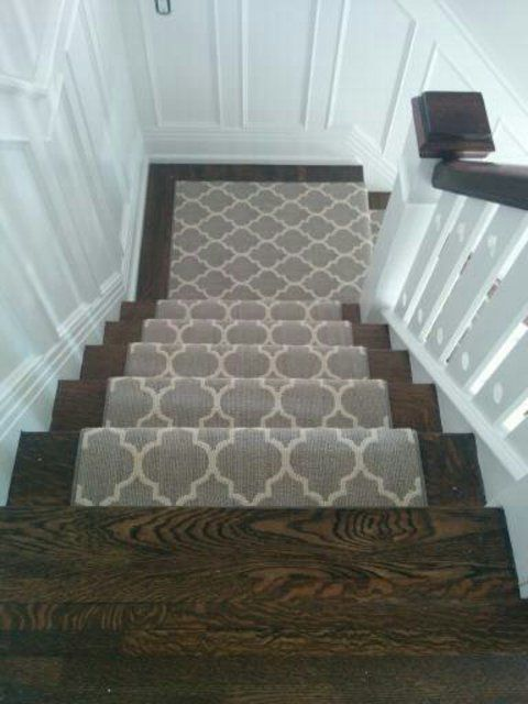 Best Patterned Geometric Gray Colour Stair Runner On Stairs And 400 x 300