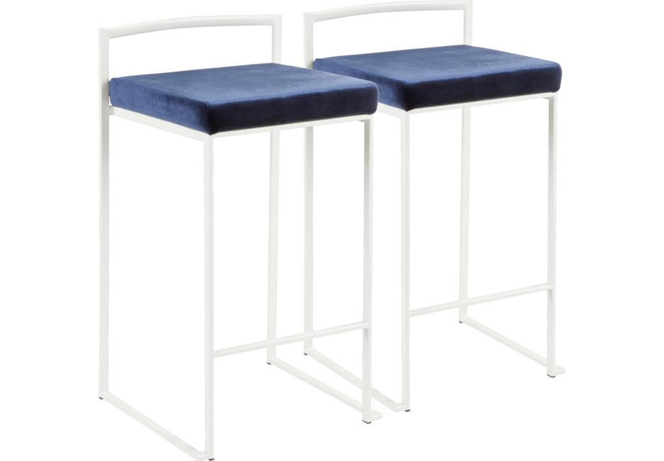 Sora Blue Counter Height Stool Set Of 2 Counter Height Stools