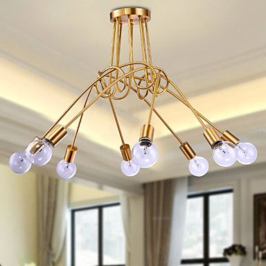 5 Chandelier , Country Brass Feature for Mini Style Metal Living Room / Bedroom / Dining Room 5226274 2016 – kr.2.292
