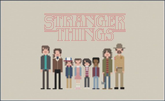 8-Bit Wonder Stranger Things PDF par CatLadyCrossStitch sur Etsy
