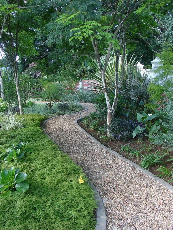 Tropical With Curved Path Garden Design In Durban Kzn South