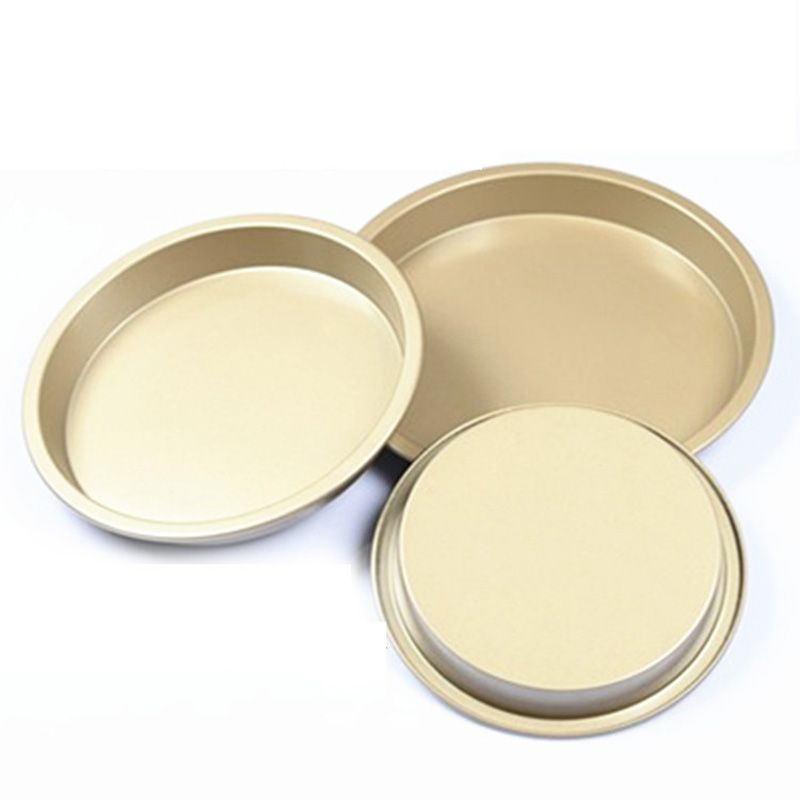 6 7 8 inch stainless steel baking pan gold pastry pizza