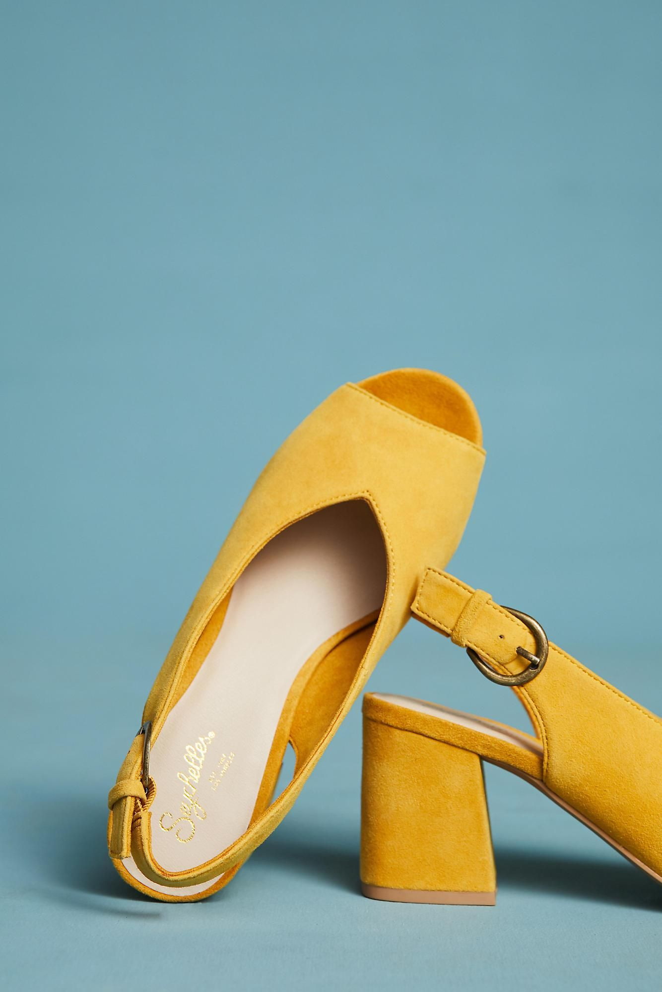 03d61e392c Anthro Seychelles Playwright slingback in mustard | Welcome To My ...