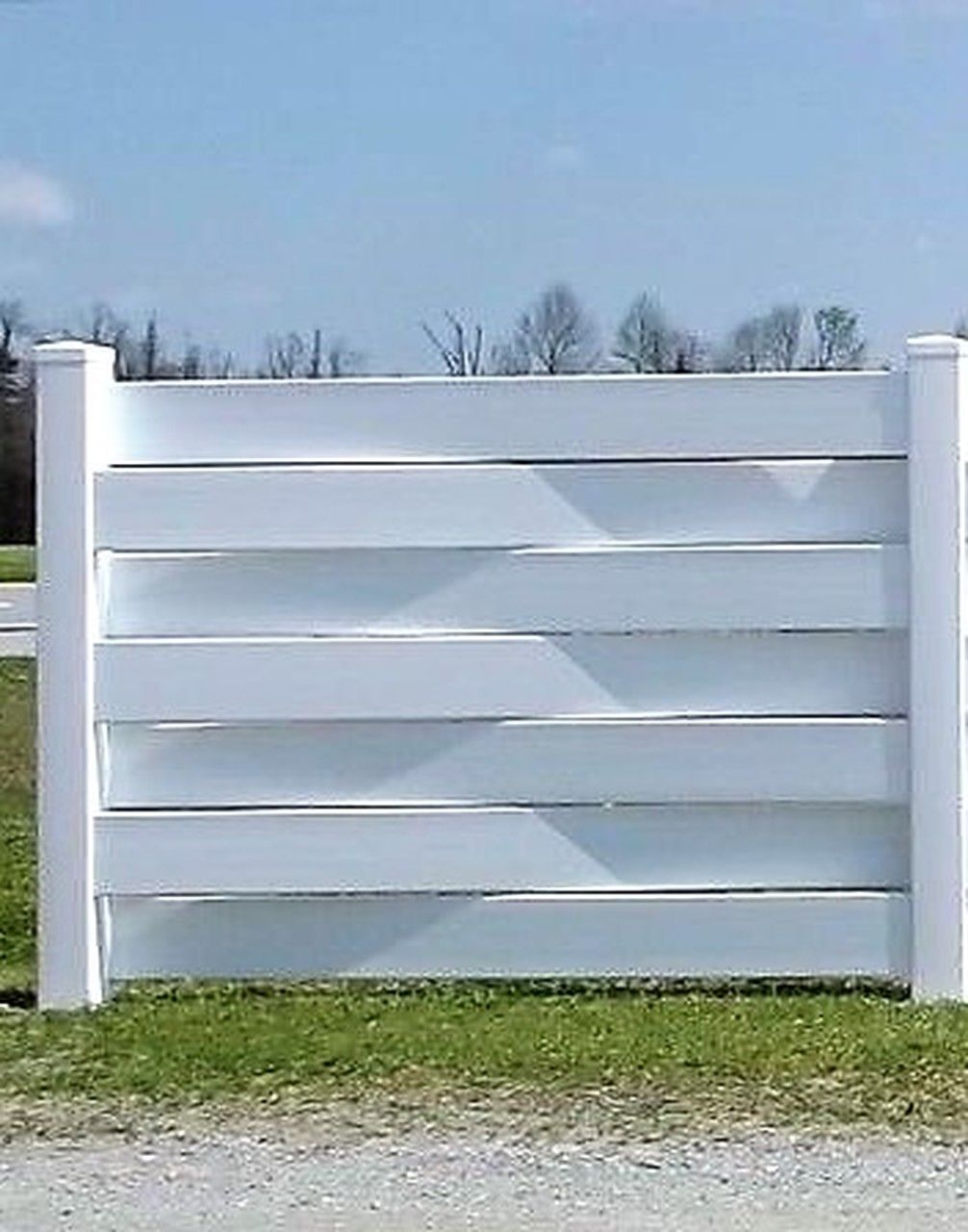 Pvc 6 X 4 Basket Weave Single Fence Panel Section With One Post No Glue No Screws The Fence Department Privacy Fence Designs Fence Design Garden Fence