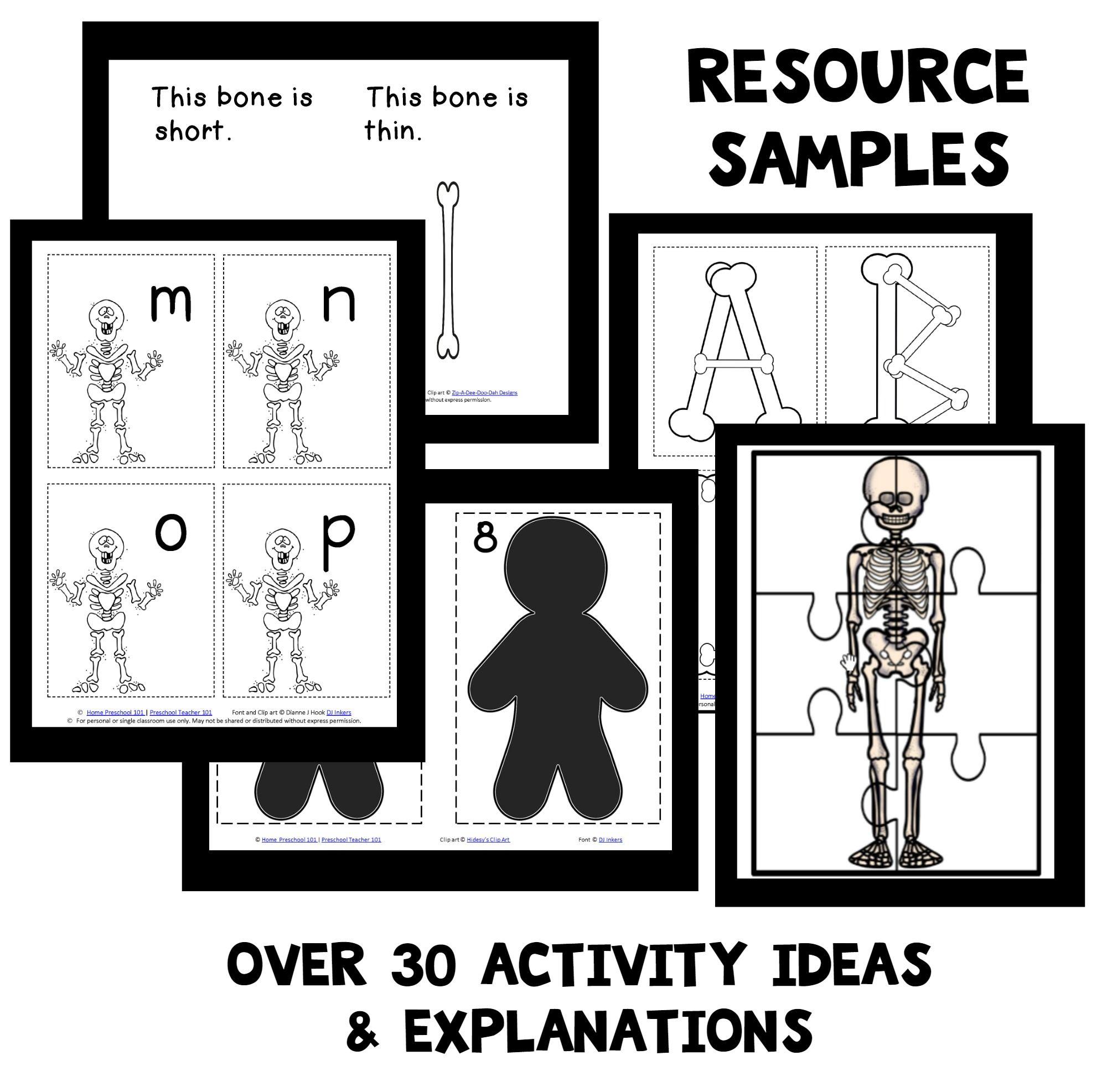 Skeleton Theme Home Preschool Lesson Plan