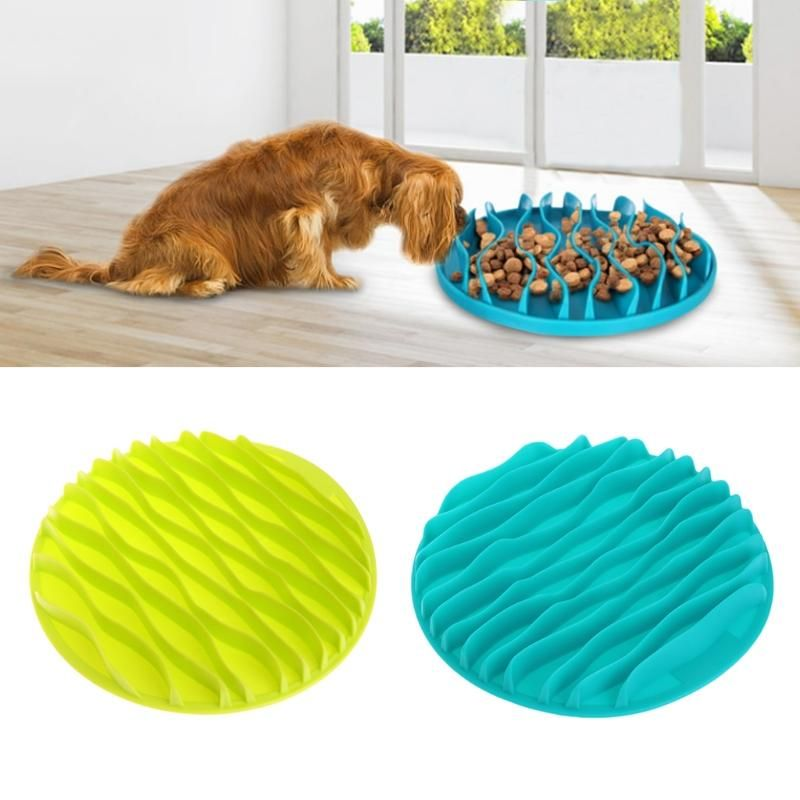 Pet Dog Kitty Interactive Slow Food Anti Gulp Feed Healthy