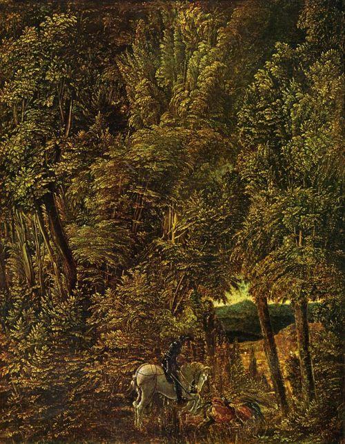Landschaftsmalerei renaissance  Albrecht Altdorfer. Waldlandschaft mit St. Georges Drachenkampf ...