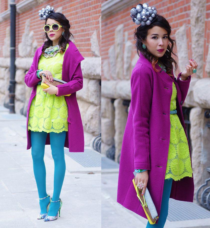 Tamara Gonzalez Perea -  - NEON LACE DRESS