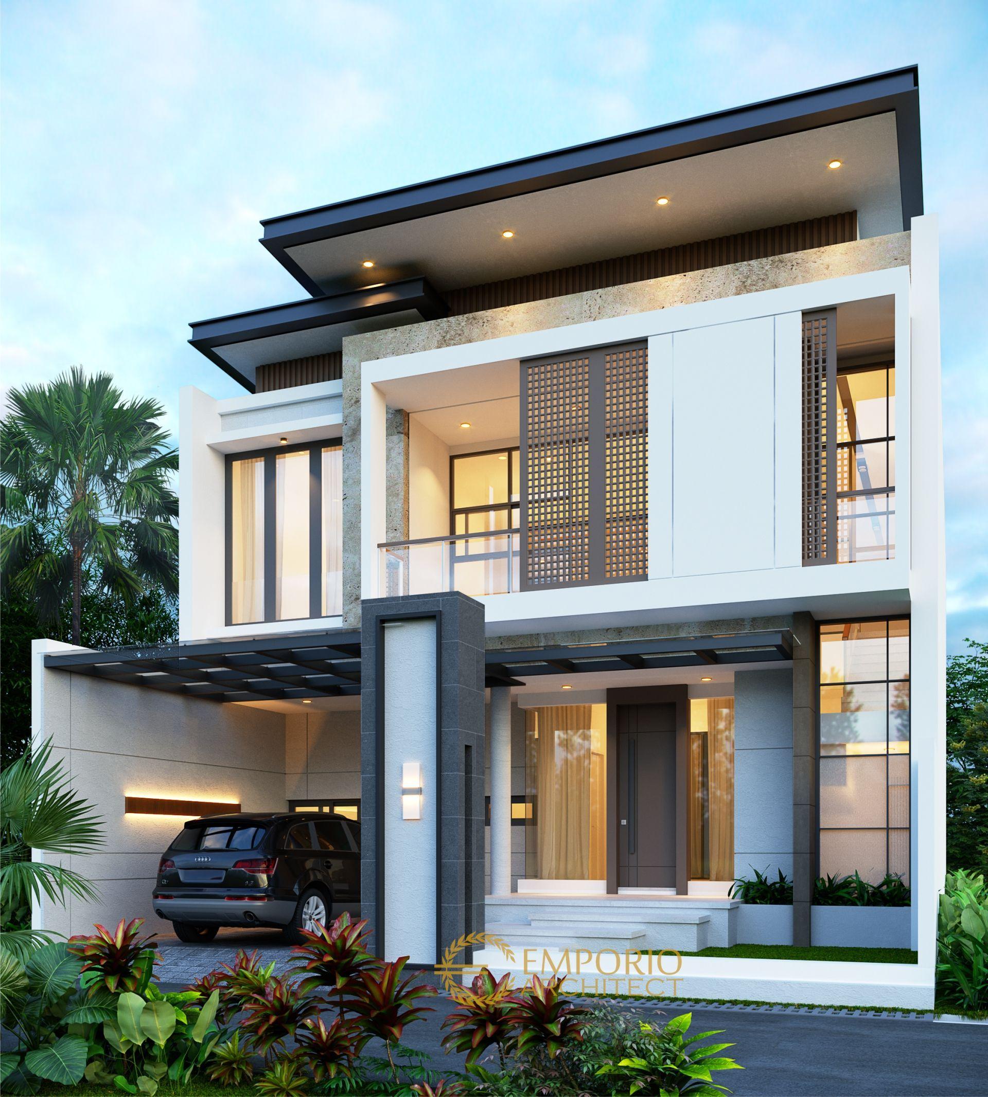 Desain Rumah Modern 2 Lantai Ibu Mega Di Jakarta Di 2020