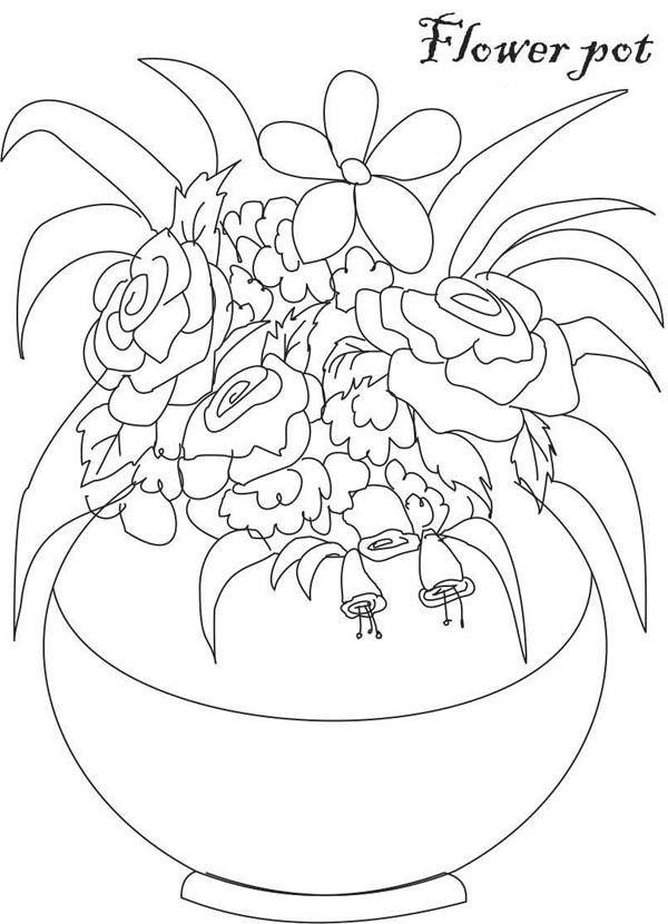 Dibujos para Colorear Floreros 15 | Arte | Pinterest | Floreros ...