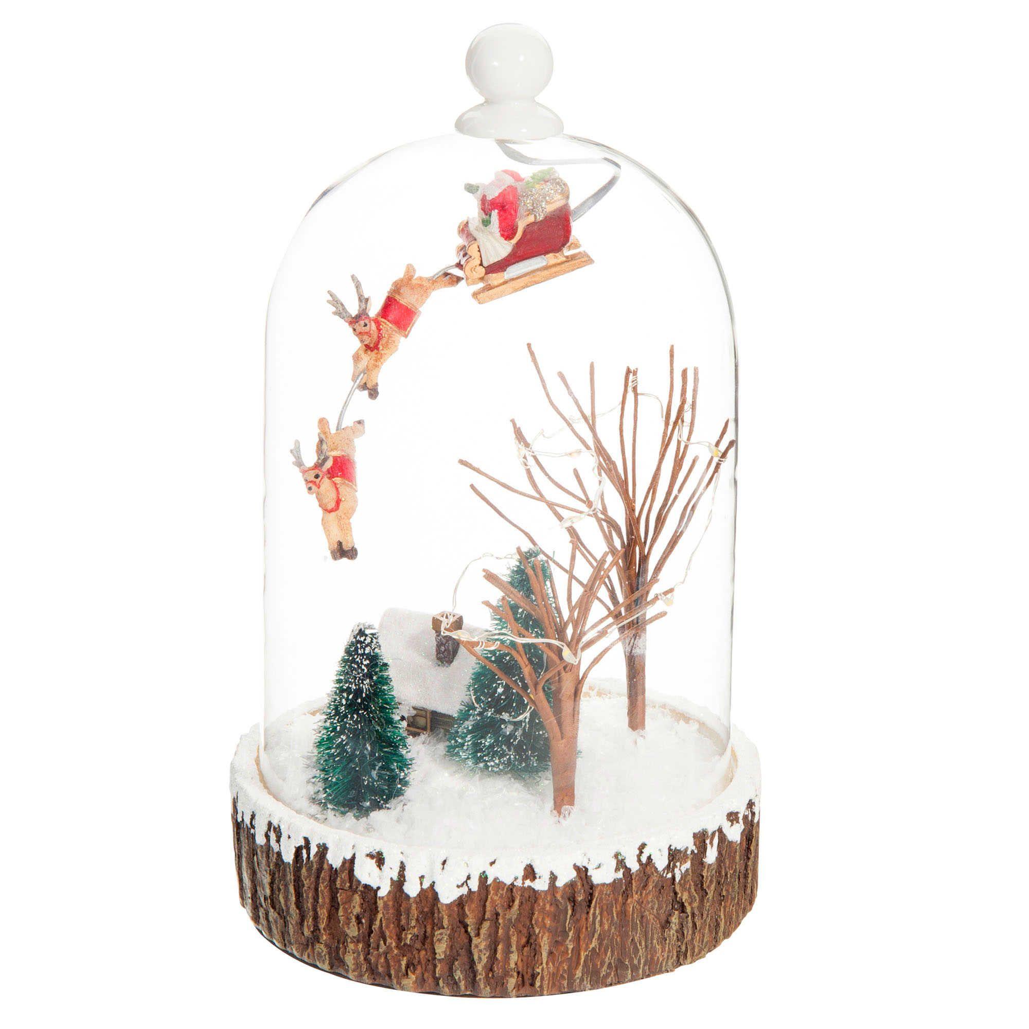 Globe Lumineux En Verre H Cm VILLAGE Christmas Pinterest - Canapé convertible scandinave pour noël decoration murale