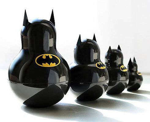batman Russian stacking dolls... WANT www.junkfoodclothing.com