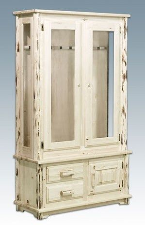 Exceptionnel Montana Lodge Log Gun Cabinet With Or Without The Drawers