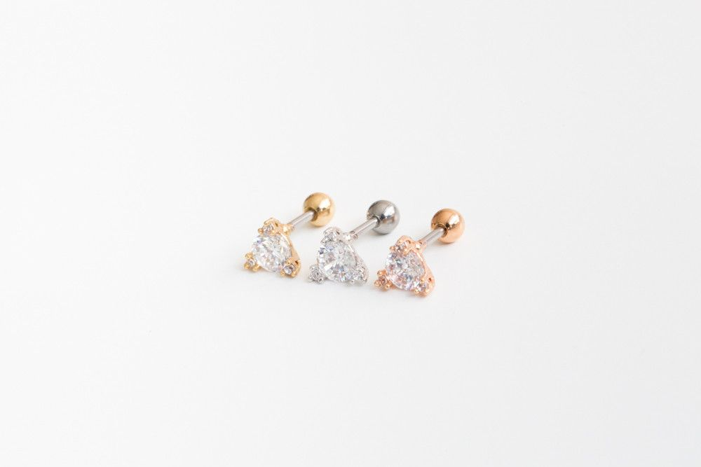 Cz Triangle Piercing Sr The Triangle Shape Is A Symbol Of
