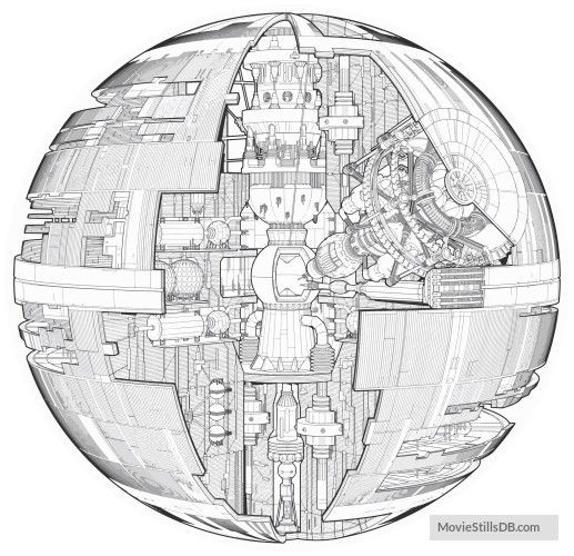 Star Wars Rogue One Pre Production Image Star Wars Drawings Star Wars Death Star Star Wars Art