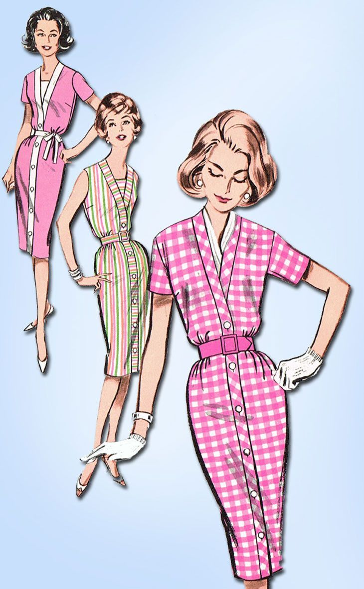 Butterick Pattern 9723 Misses' Dress Pattern A Quick and Easy Design Dated 1961…