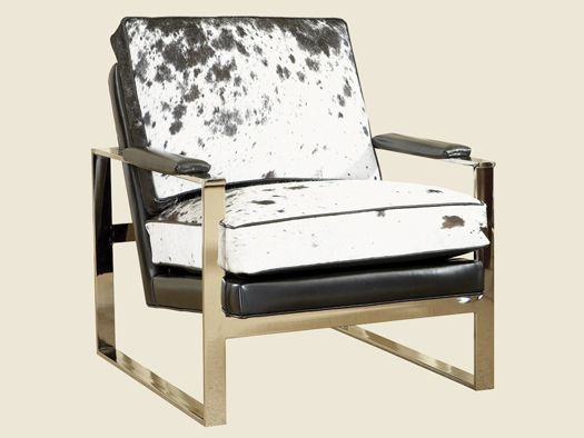 Black Ice Moonstone Leather Chair - Lexington Home Brands