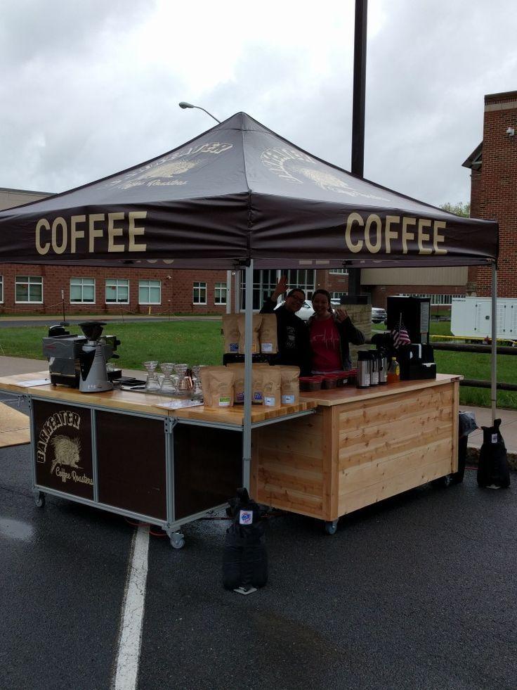 Barkeater Coffee Roasters Farmers Market setup. Coffee