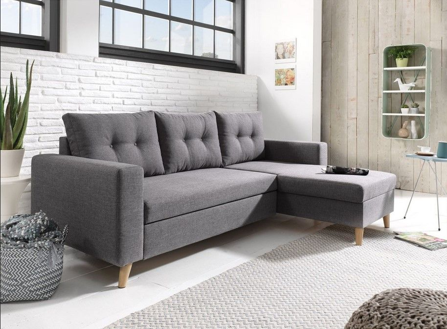 Bestmobilier Nordic Canape Scandinave D Angle Reversible