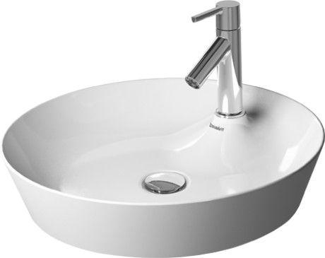 Duravit 23284800001 18-7/8 Inch White Round Washbowl with ... | {Doppelwaschtisch aufsatzwaschbecken duravit 21}